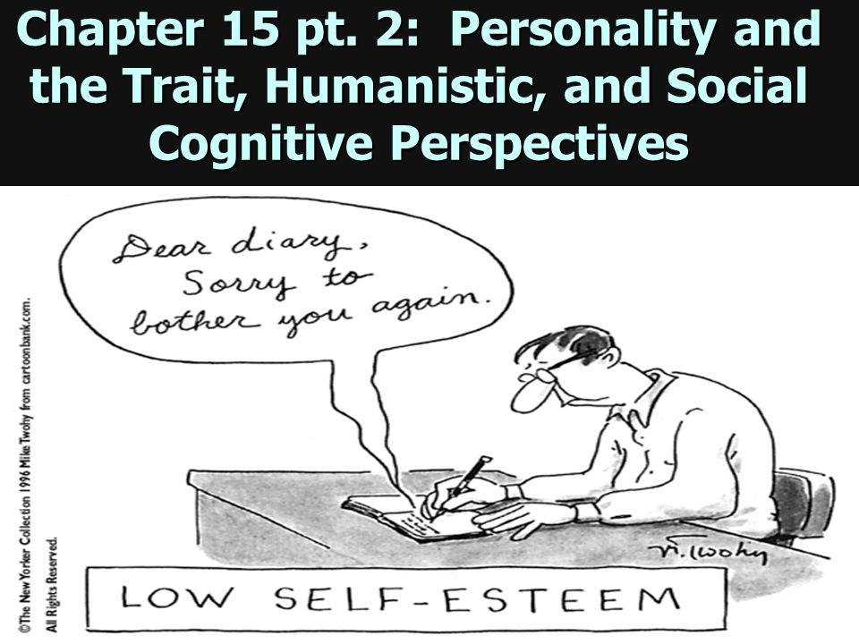 Chapter 15 pt. 2: Personality and the Trait, Humanistic, and Social Cognitive Perspectives