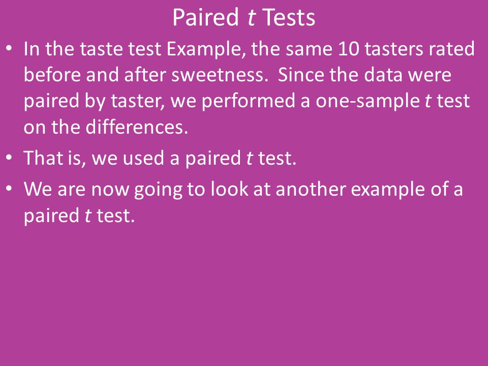 Paired t Tests