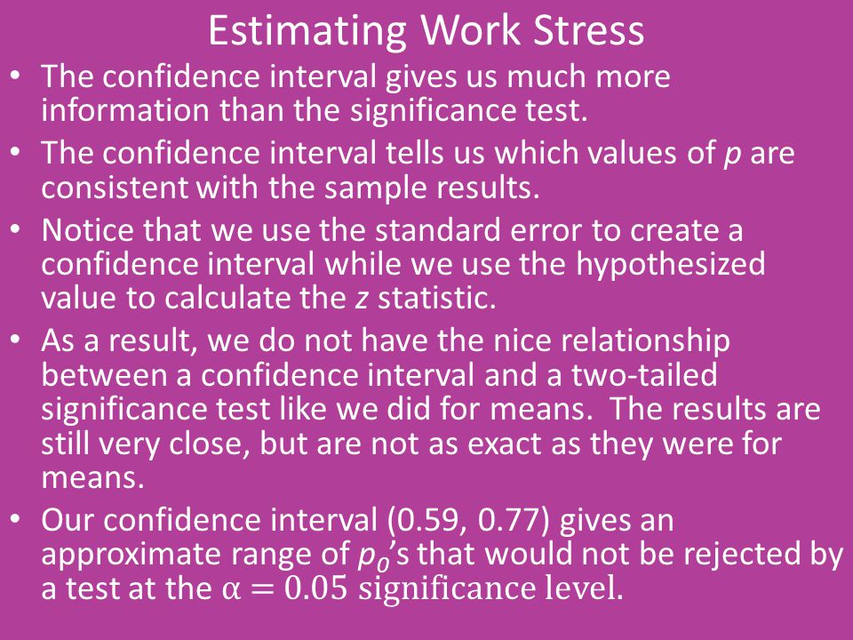 Estimating Work Stress