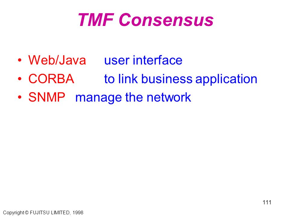 TMF Consensus Web/Java user interface