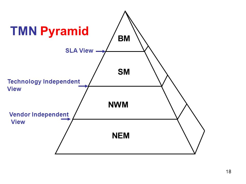 BM SM NWM NEM TMN Pyramid SLA View Technology Independent View