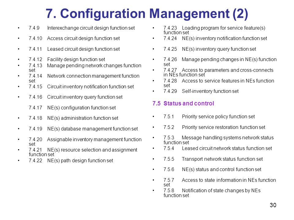7. Configuration Management (2)
