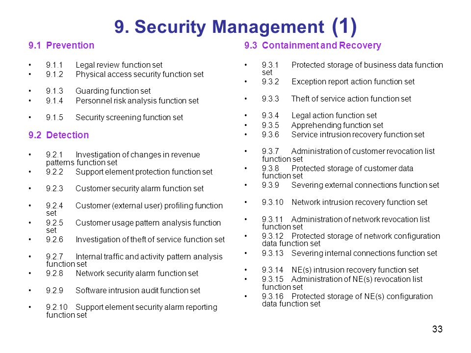9. Security Management (1)