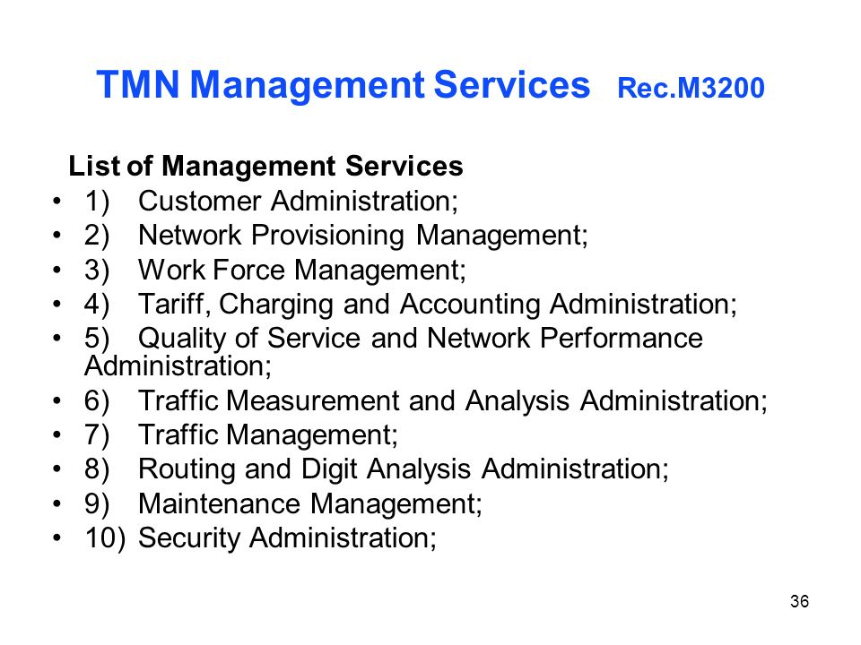 TMN Management Services Rec.M3200