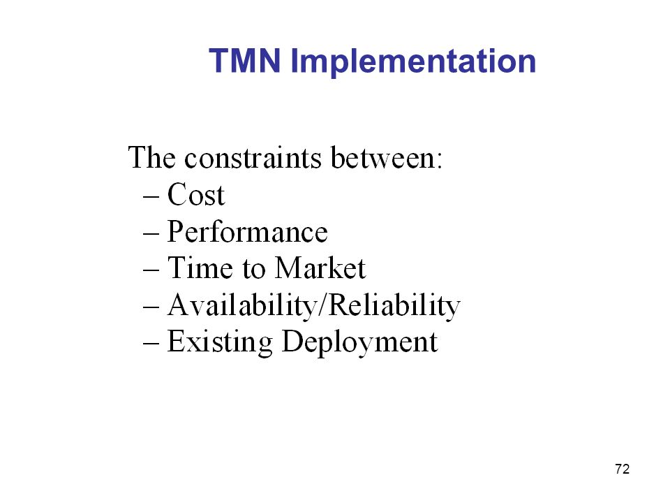 TMN Implementation