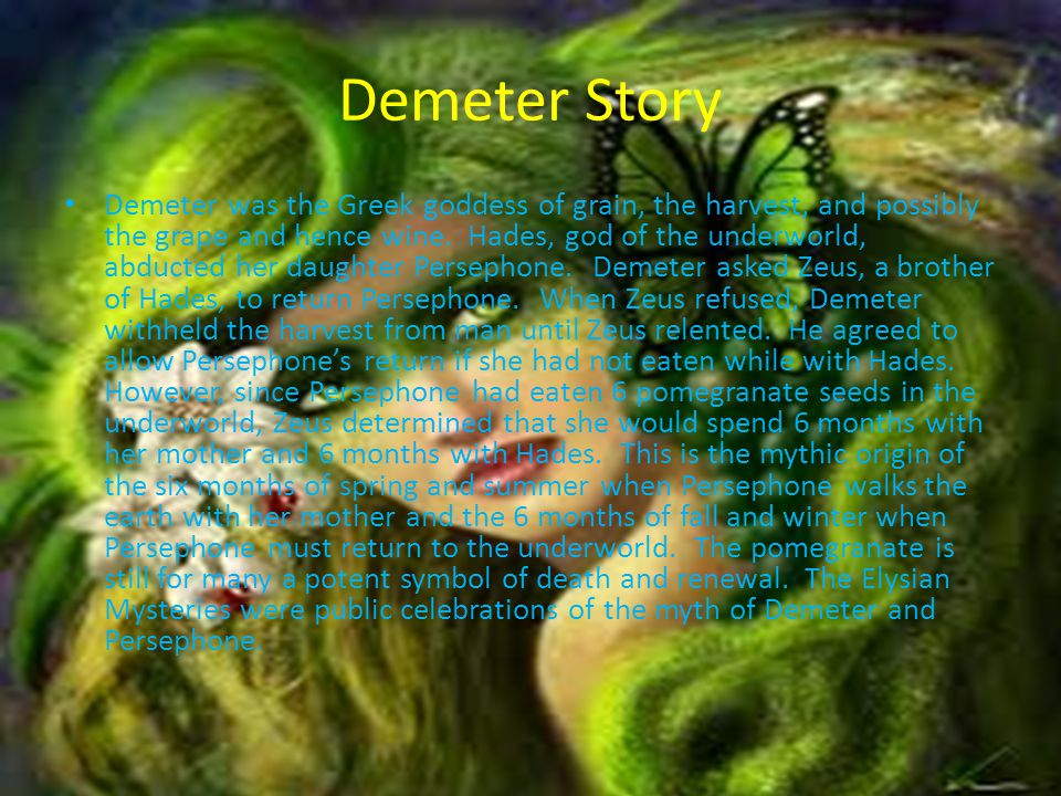 Demeter By Haley Duffie Ppt Download