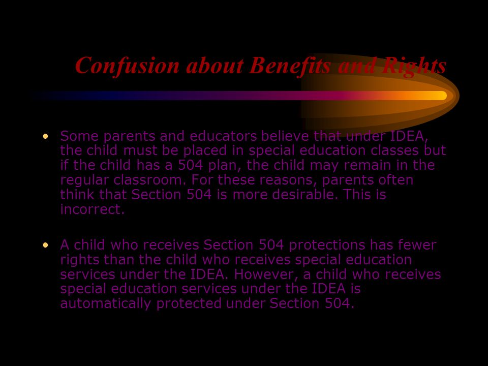Confusion about Benefits and Rights