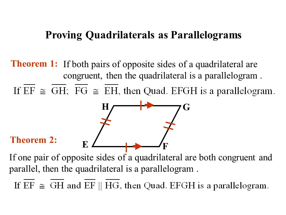 Proving Quadrilaterals as Parallelograms