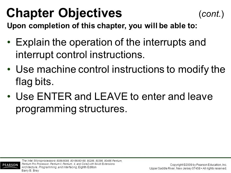 Chapter Objectives (cont.) Upon completion of this chapter, you will be able to: