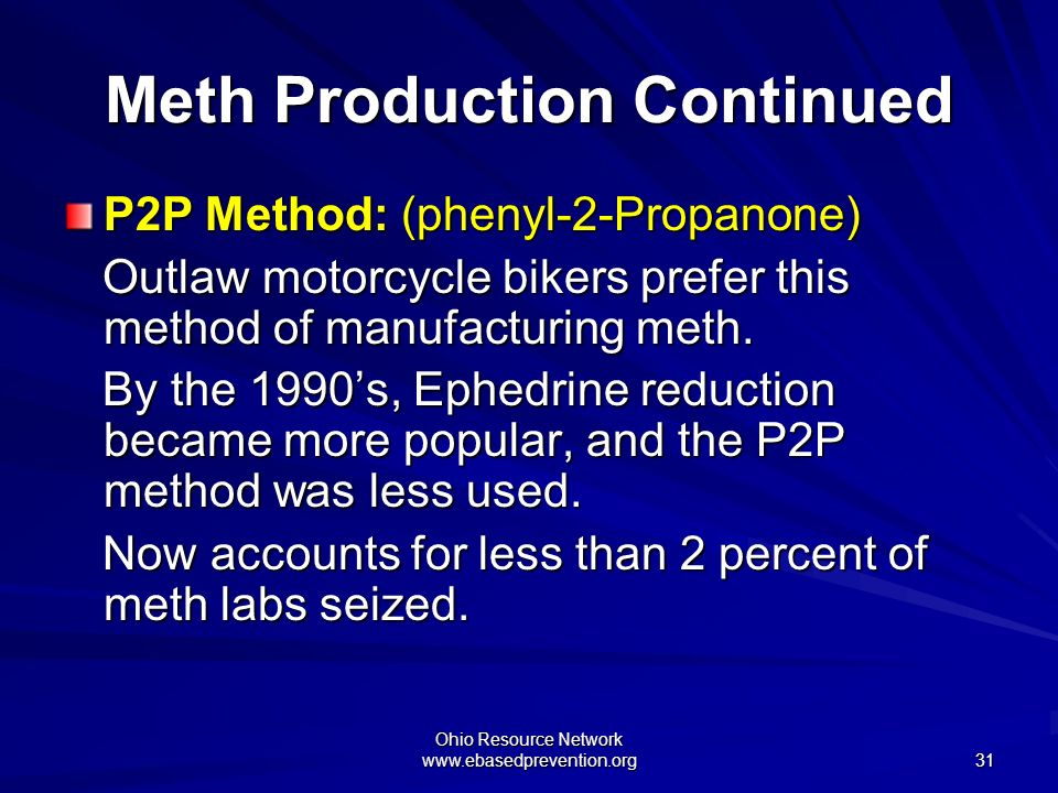 Meth Production Continued