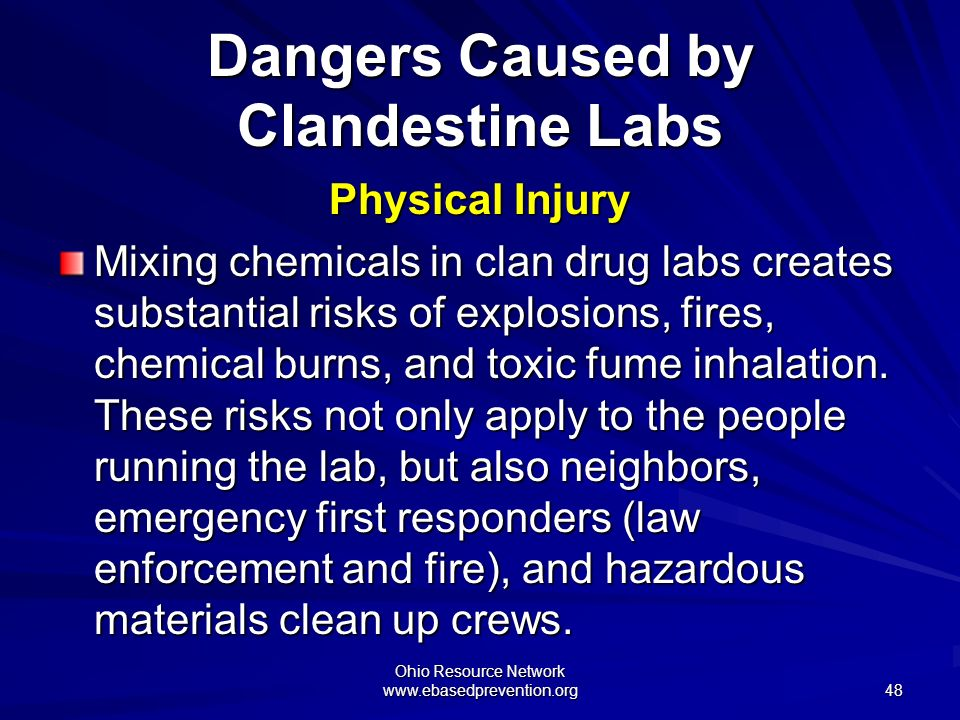 Dangers Caused by Clandestine Labs