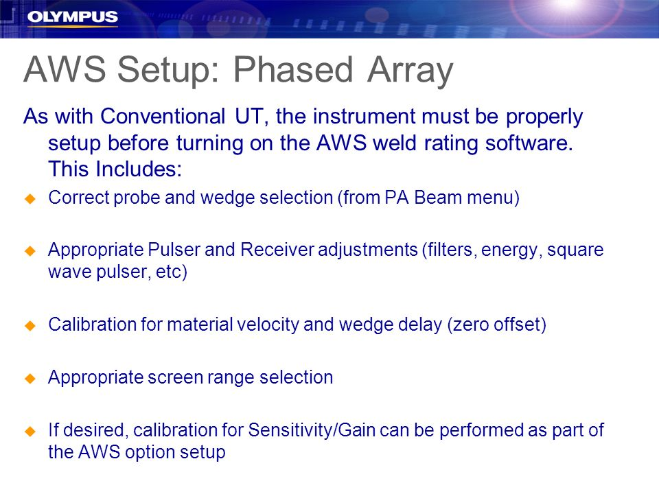 AWS Setup: Phased Array