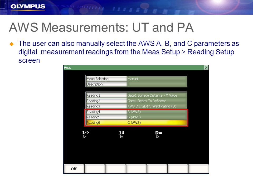 AWS Measurements: UT and PA