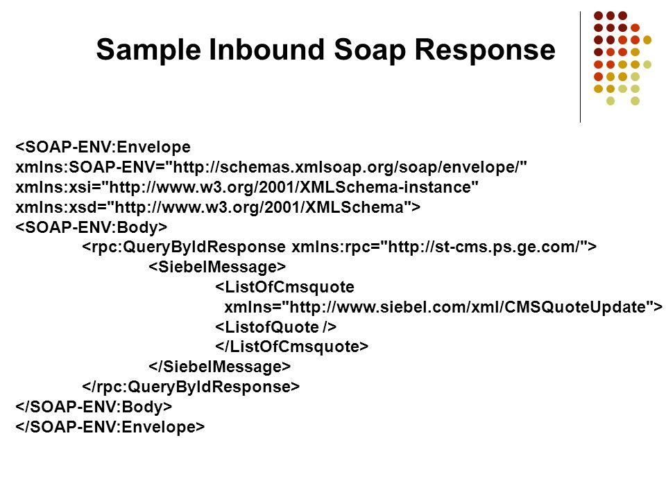 Sample Inbound Soap Response