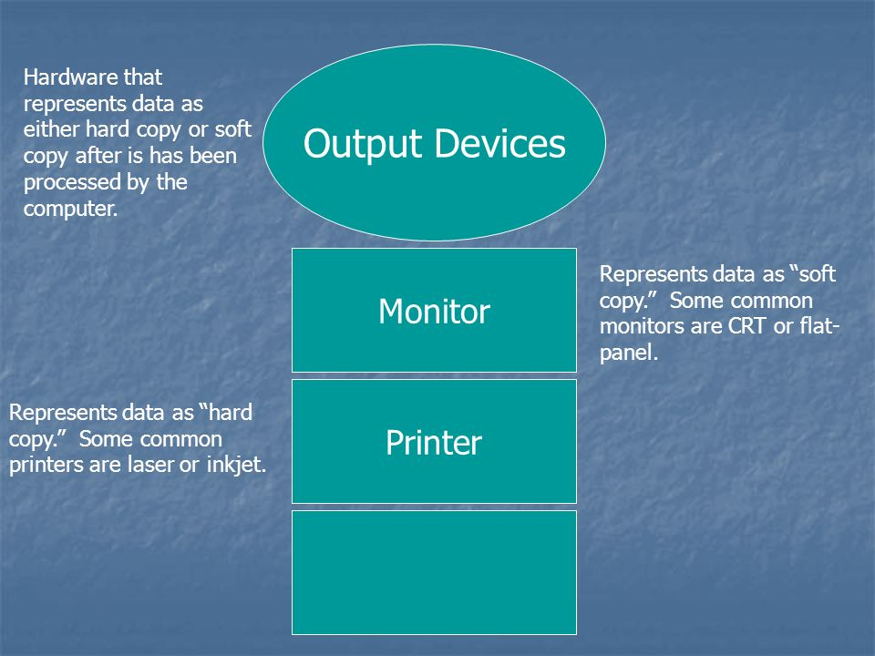 Output Devices Monitor Printer