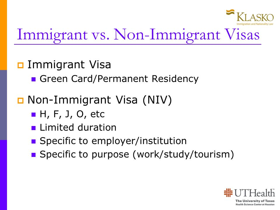 Immigrant vs. Non-Immigrant Visas