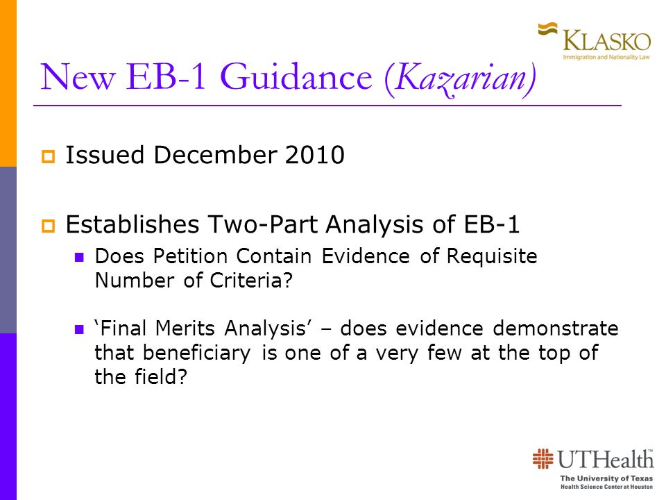 New EB-1 Guidance (Kazarian)