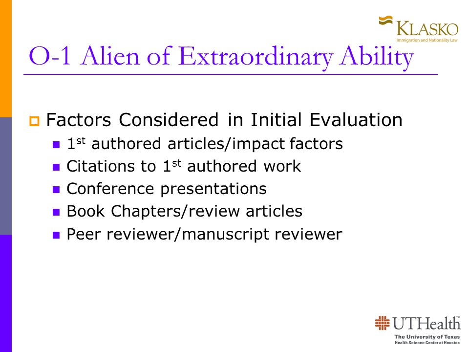 O-1 Alien of Extraordinary Ability