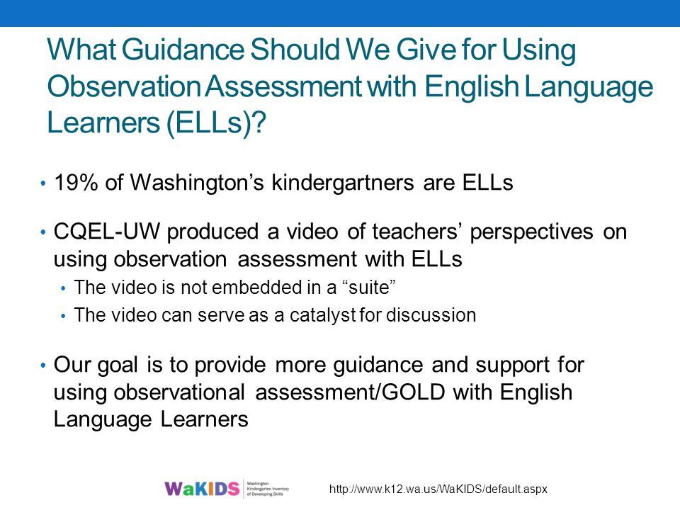 What Guidance Should We Give for Using Observation Assessment with English Language Learners (ELLs)