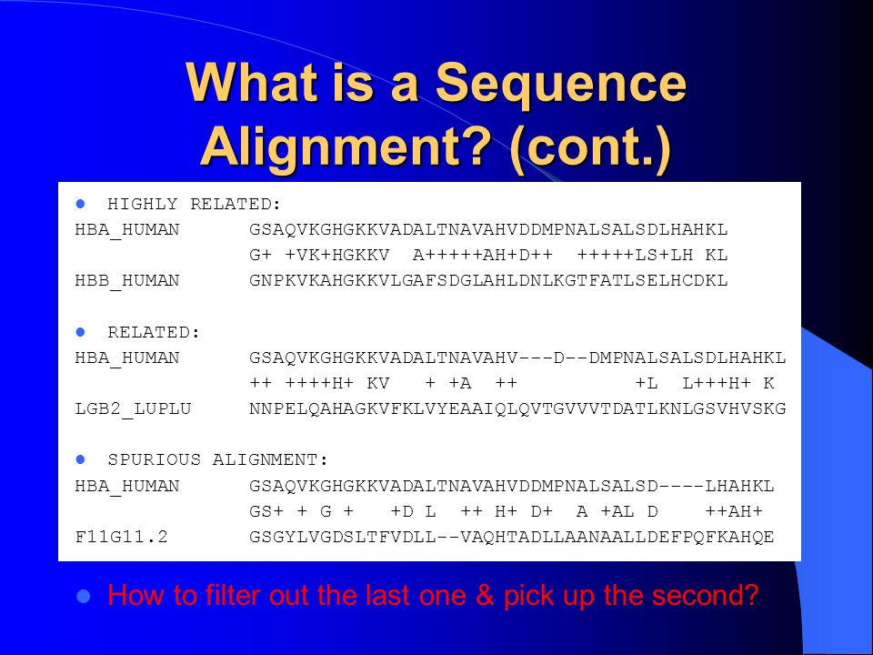 What is a Sequence Alignment (cont.)