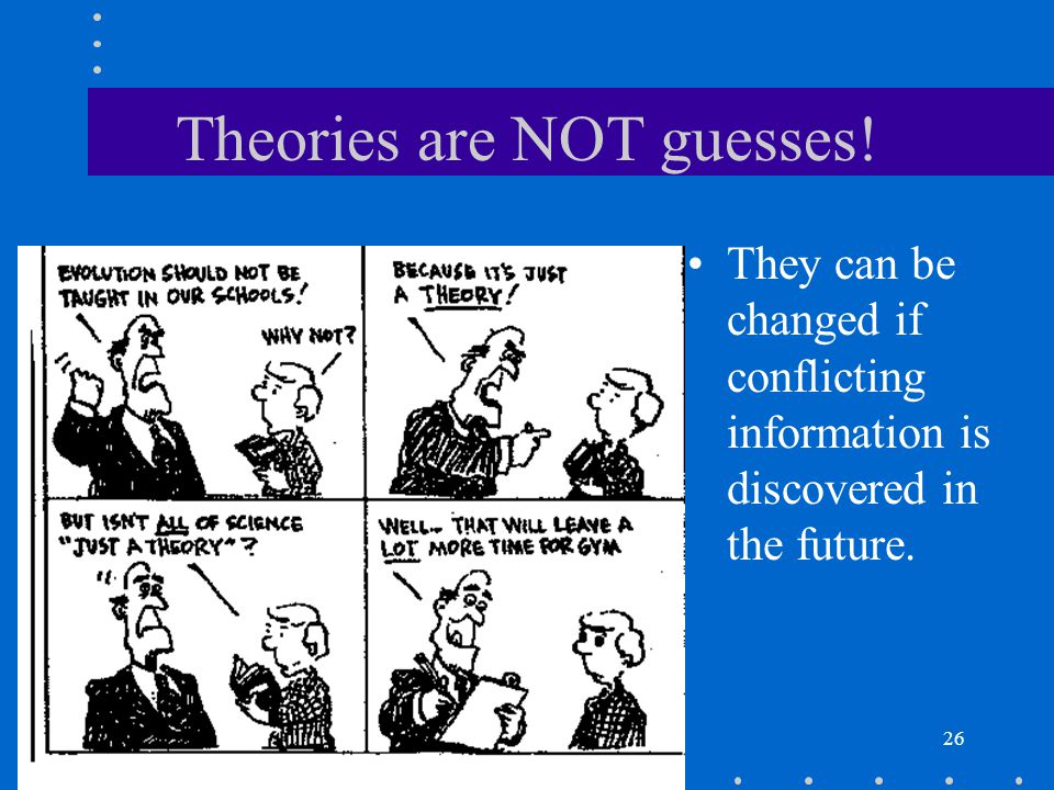 Theories are NOT guesses!