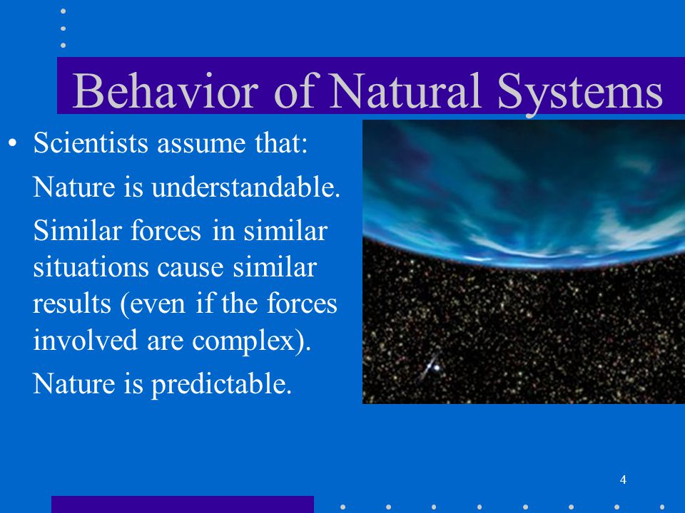 Behavior of Natural Systems