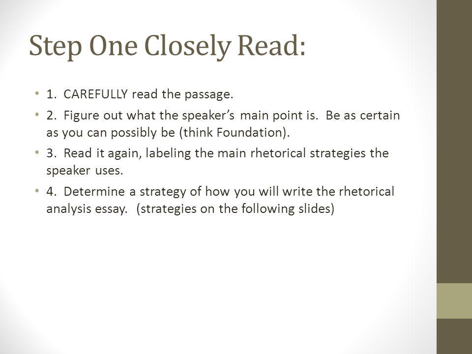writing a rhetorical analysis essay