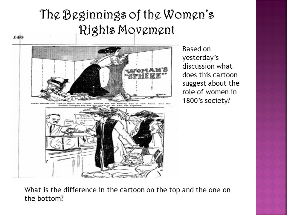 The Beginnings of the Women's Rights Movement