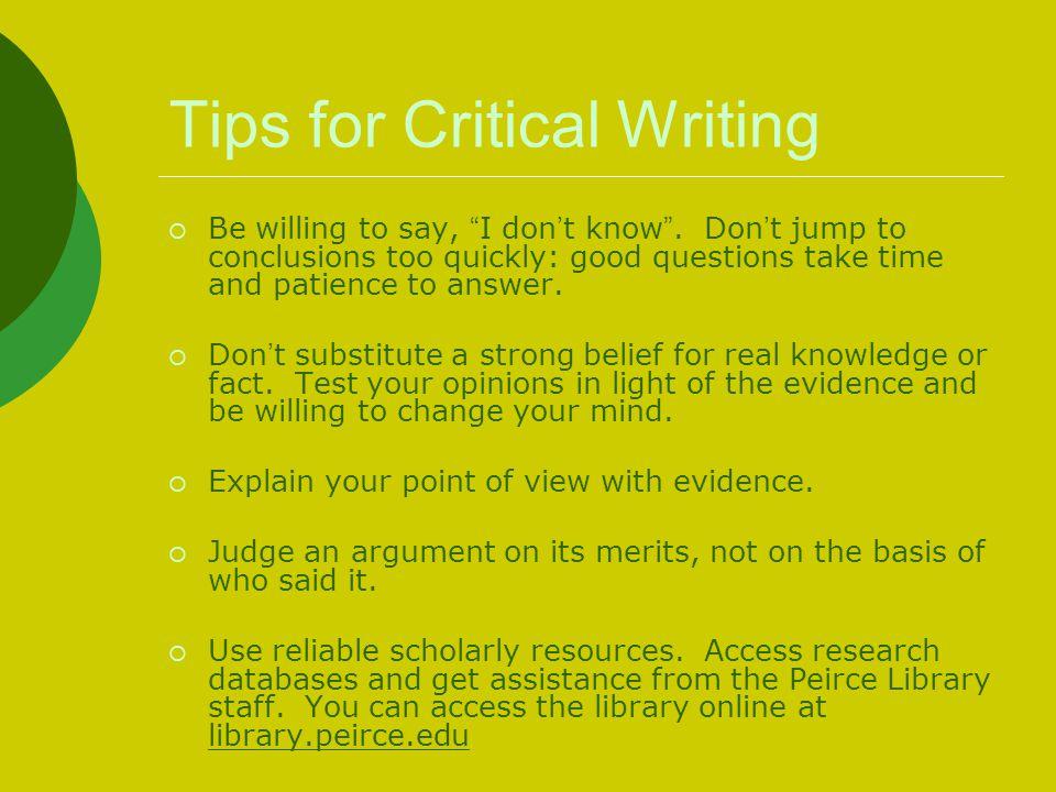 critical writing tips