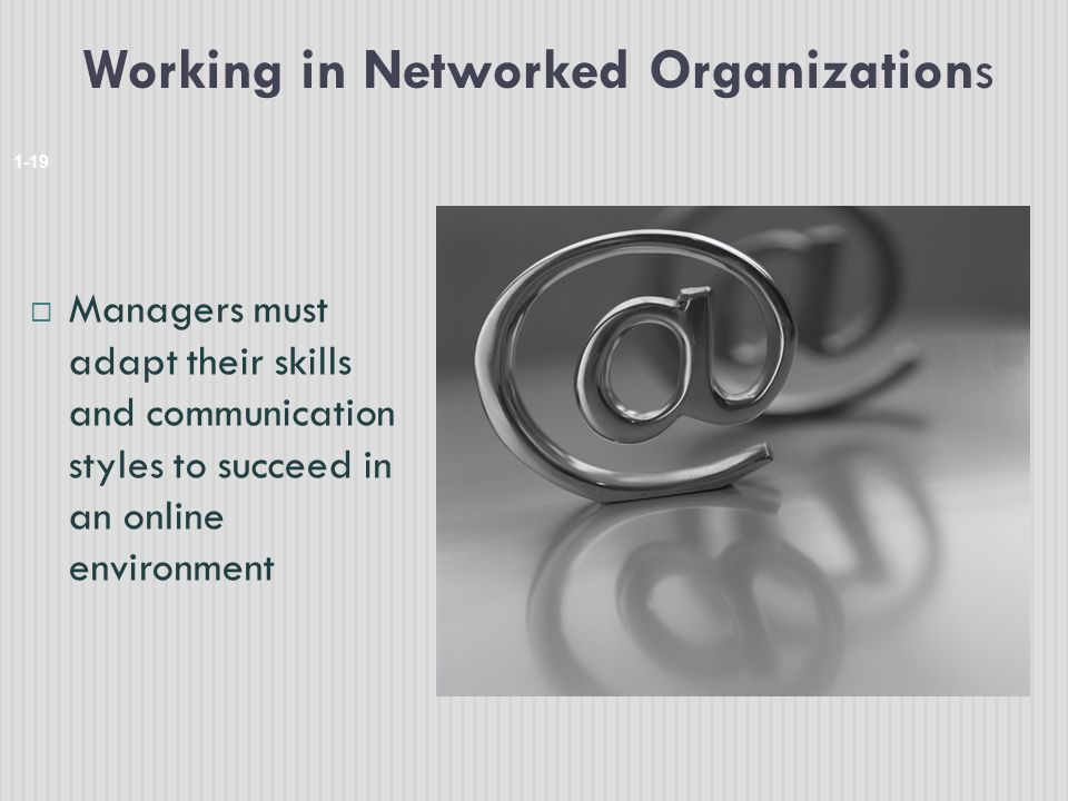 Working in Networked Organizations