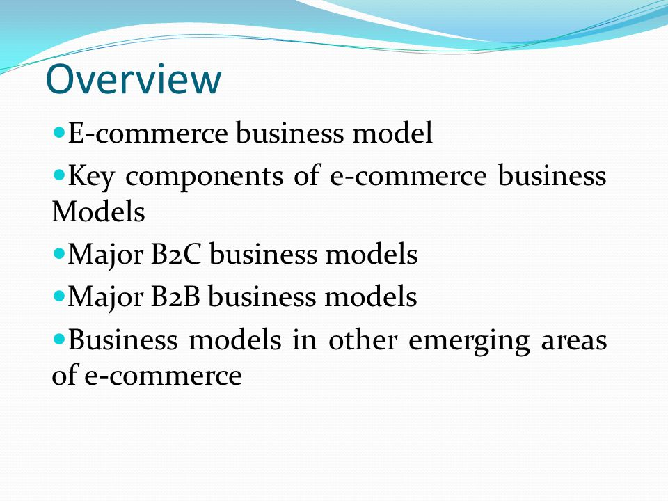 Overview E-commerce business model