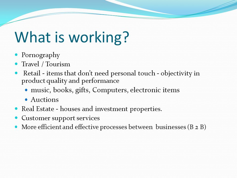What is working music, books, gifts, Computers, electronic items