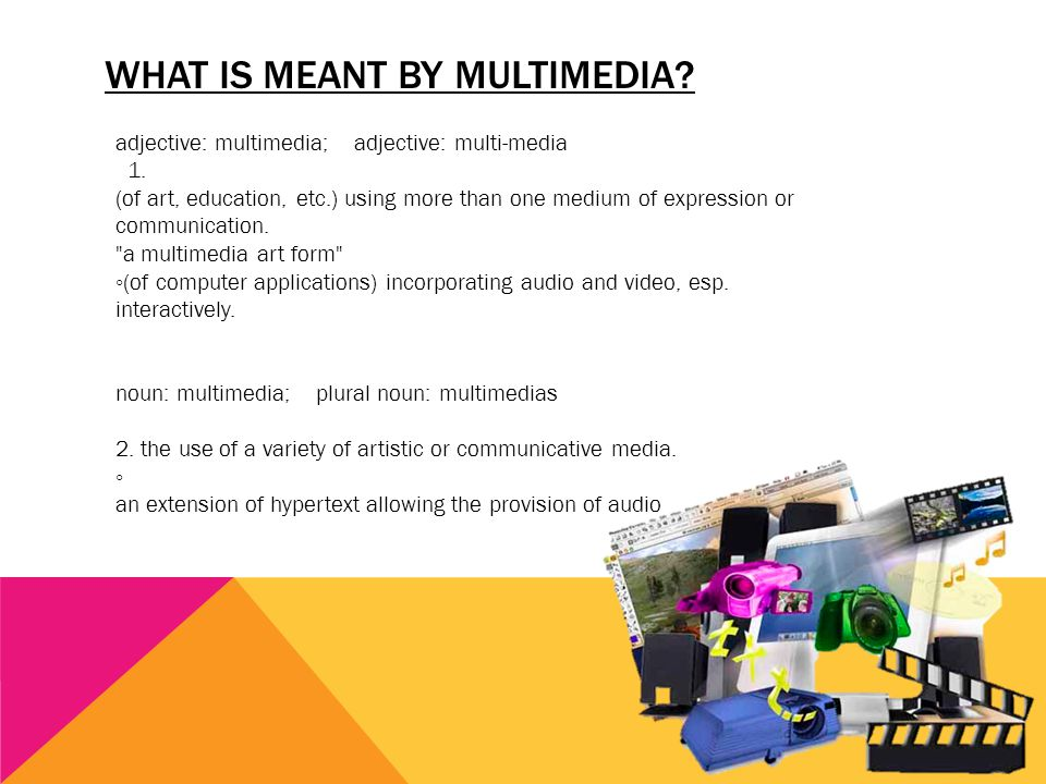 What is meant by Multimedia