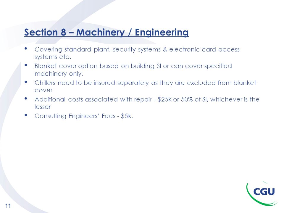 Section 8 – Machinery / Engineering