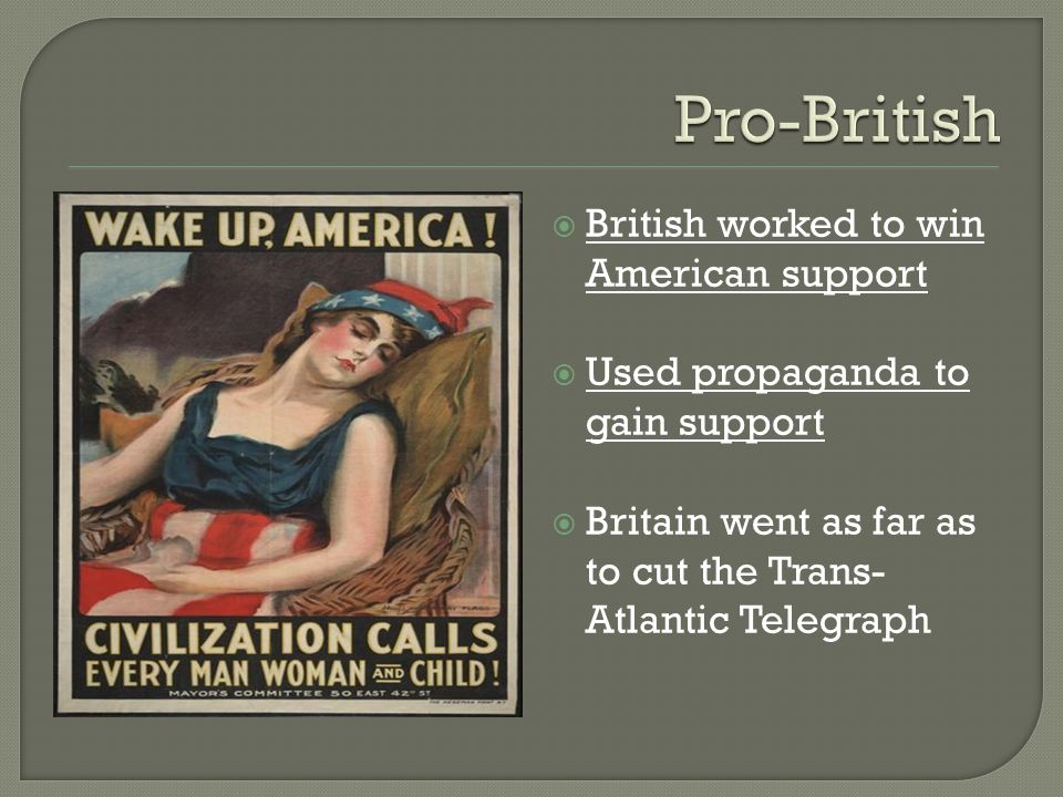 Pro-British British worked to win American support