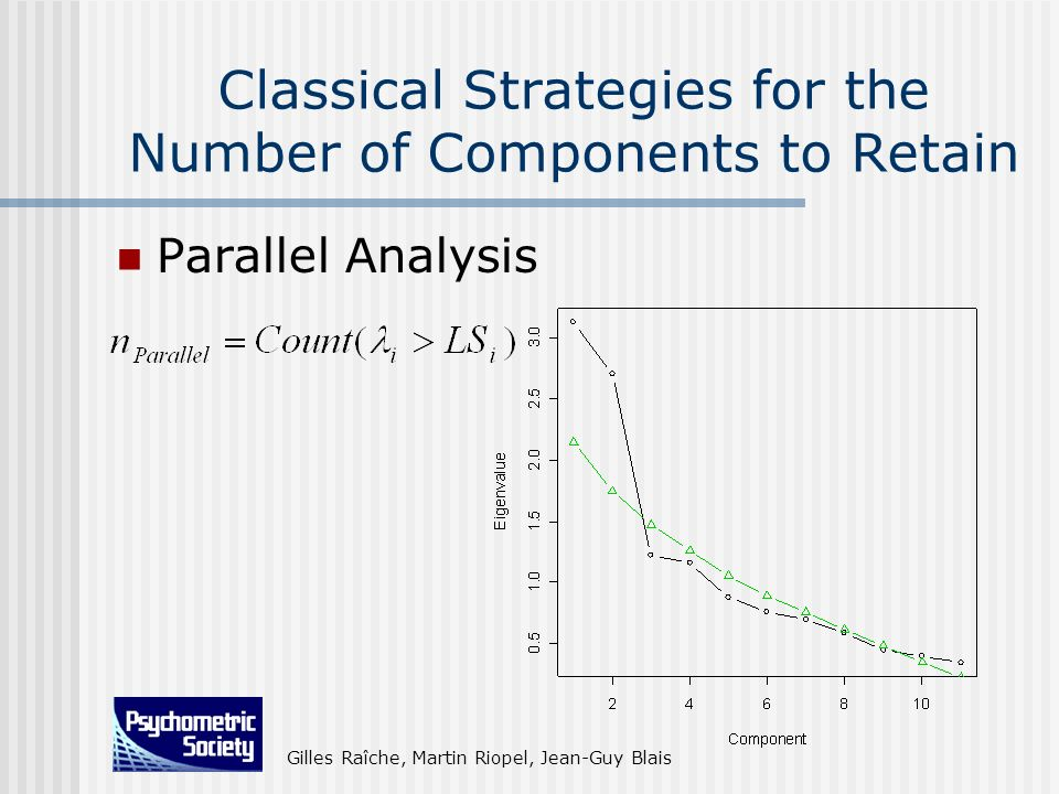 Classical Strategies for the Number of Components to Retain