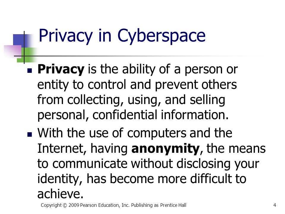 * 07/16/96. Privacy in Cyberspace.