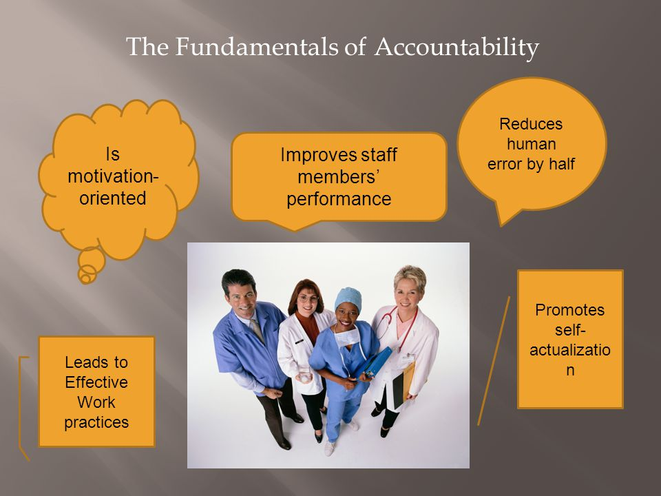 The Fundamentals of Accountability
