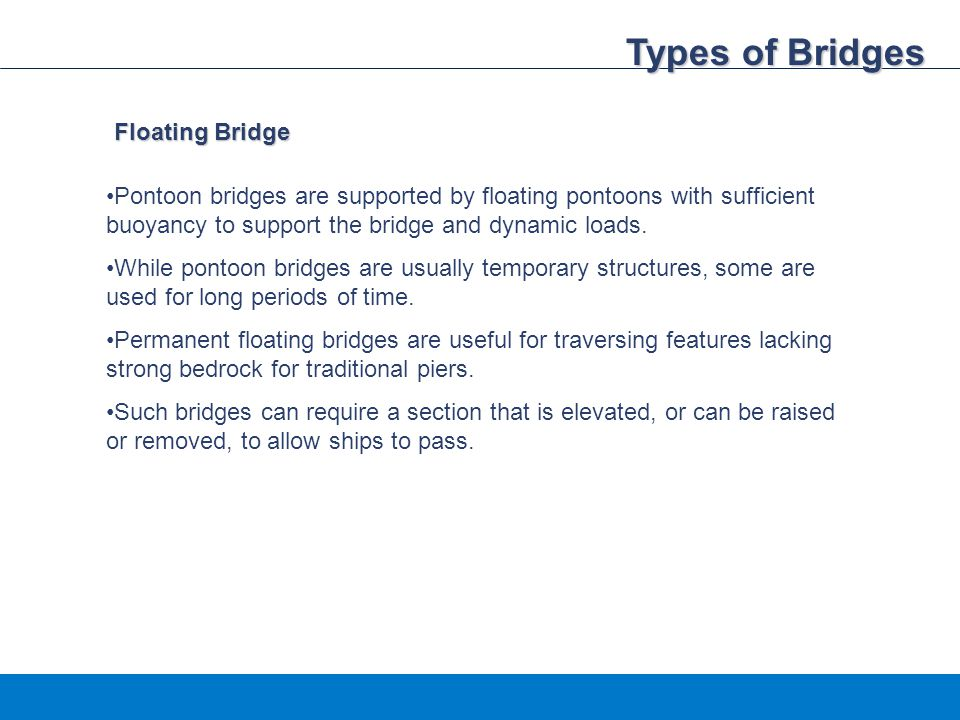 Types of Bridges Floating Bridge