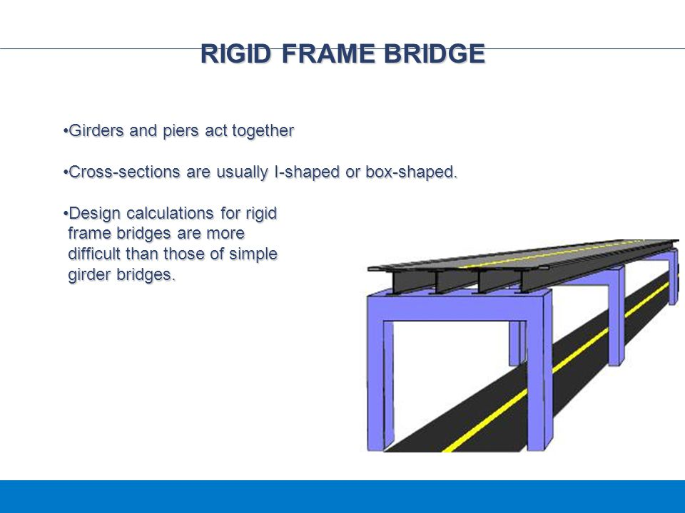 RIGID FRAME BRIDGE Girders and piers act together