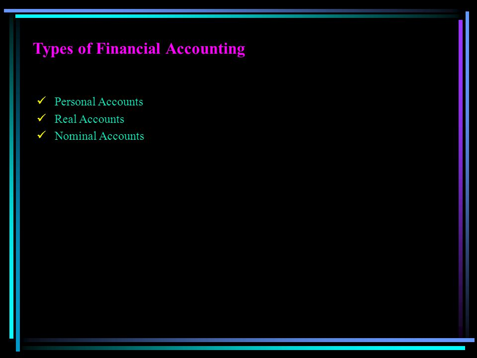 Types of Financial Accounting