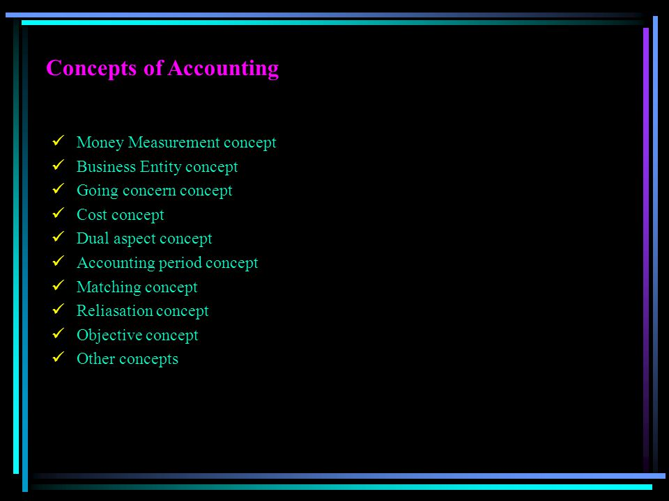 Concepts of Accounting