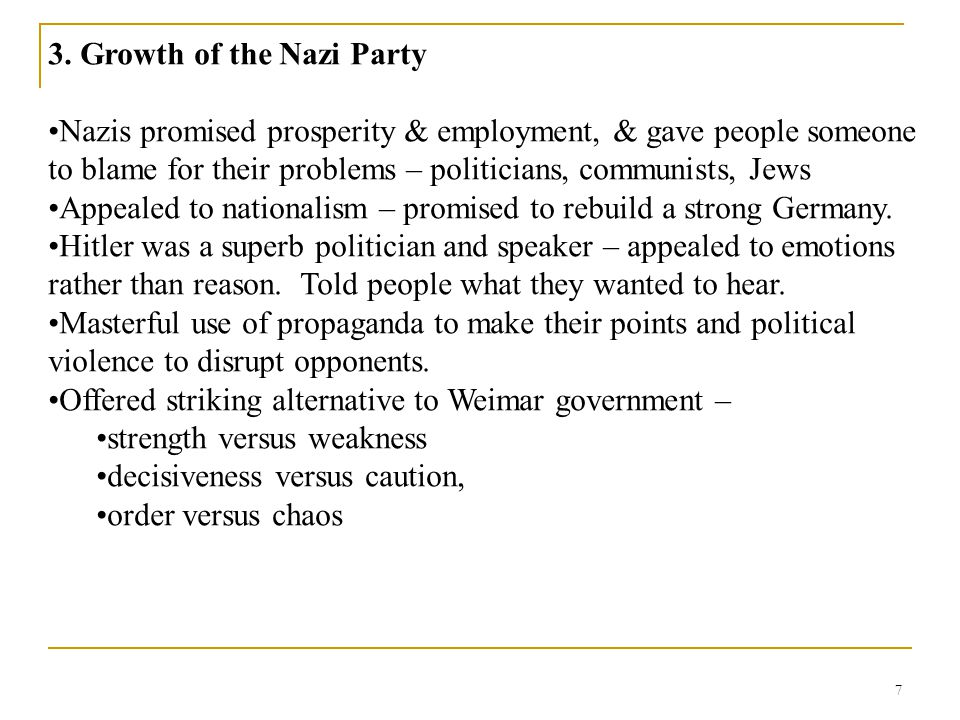 3. Growth of the Nazi Party