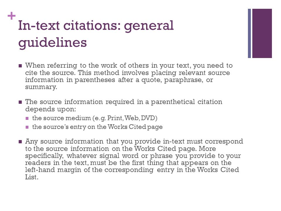 in-text citations  aka parenthetical citations