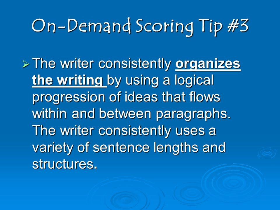 On-Demand Scoring Tip #3