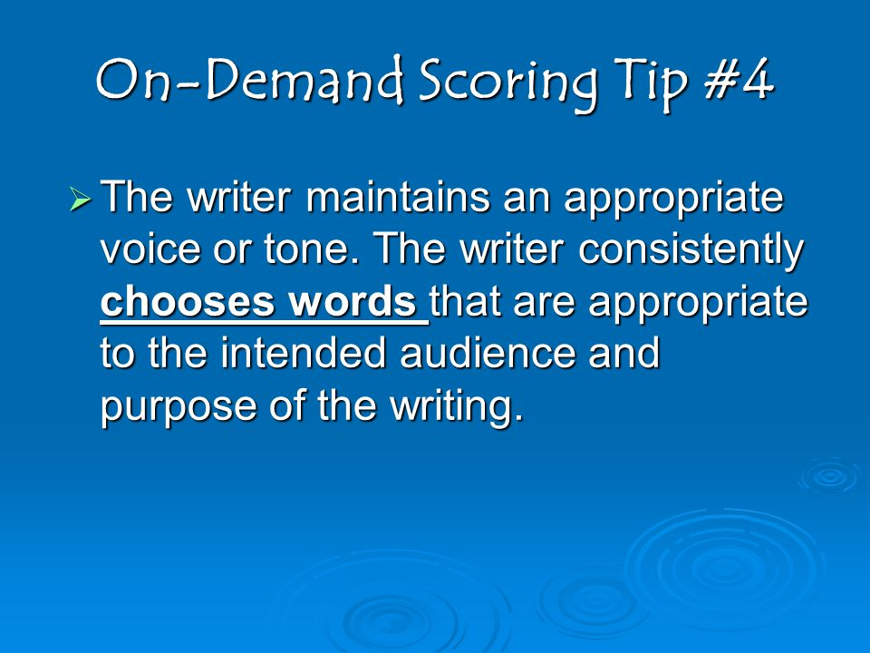 On-Demand Scoring Tip #4
