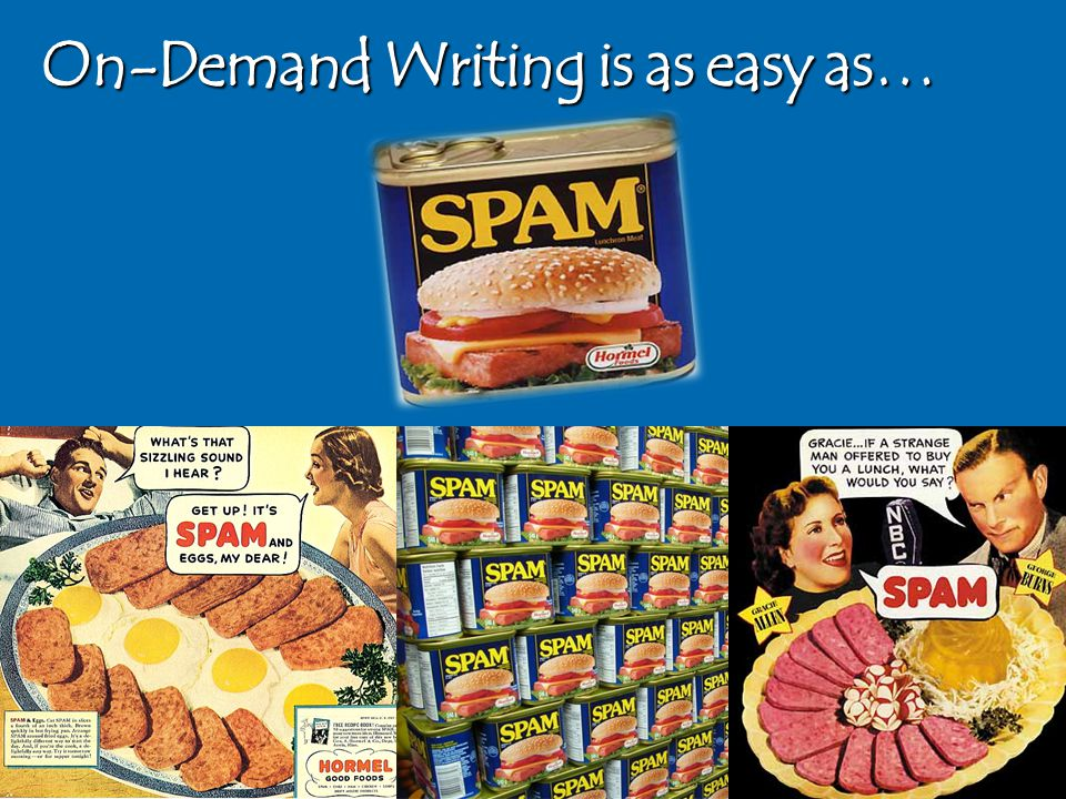 On-Demand Writing is as easy as…
