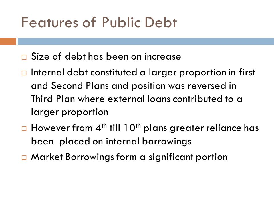Features of Public Debt