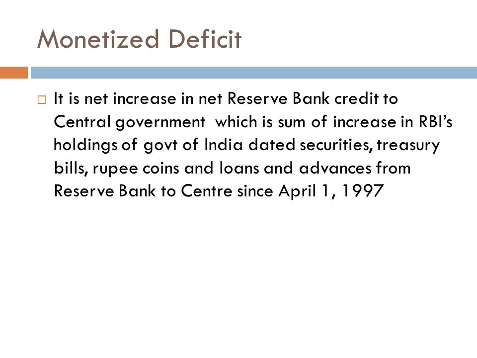 Monetized Deficit