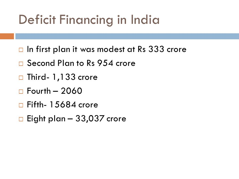 Deficit Financing in India